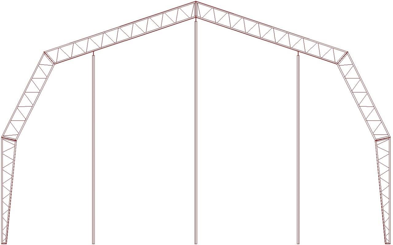 large pic of gambrel truss