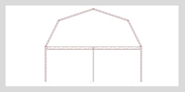 steel truss gambrel slide